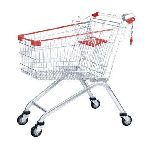 European Style Supermarket Shopping Trolley 100L