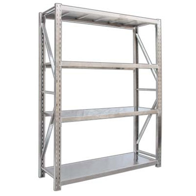 4 Layers Stainless Steel Warehouse Racks 2000x600x2000mm Metal Shelving