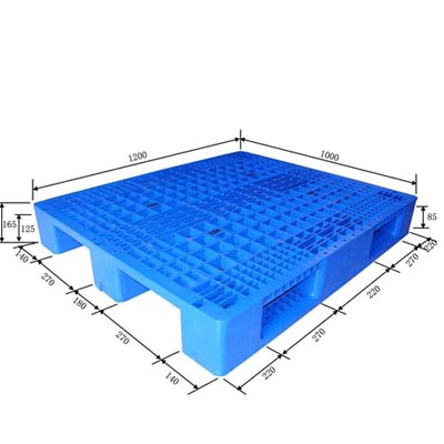 Single Sided Racking Pallet 1200x1000x165mm Plastic Pallet